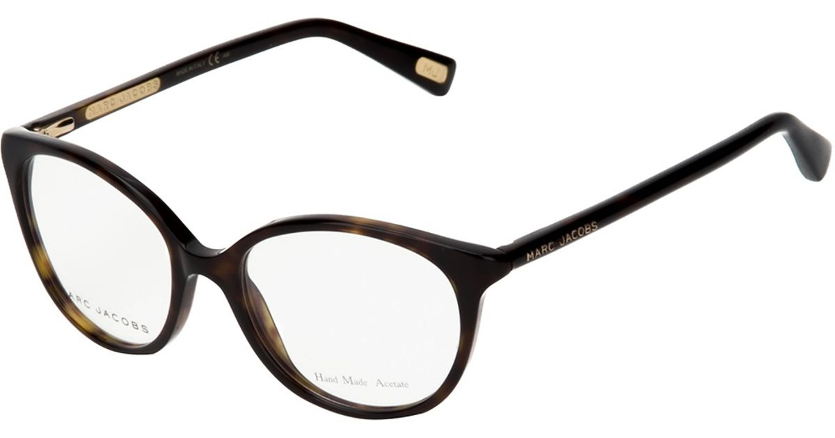 9c8b6e0a0e Marc Jacobs Cat Eye Glasses in Brown - Lyst