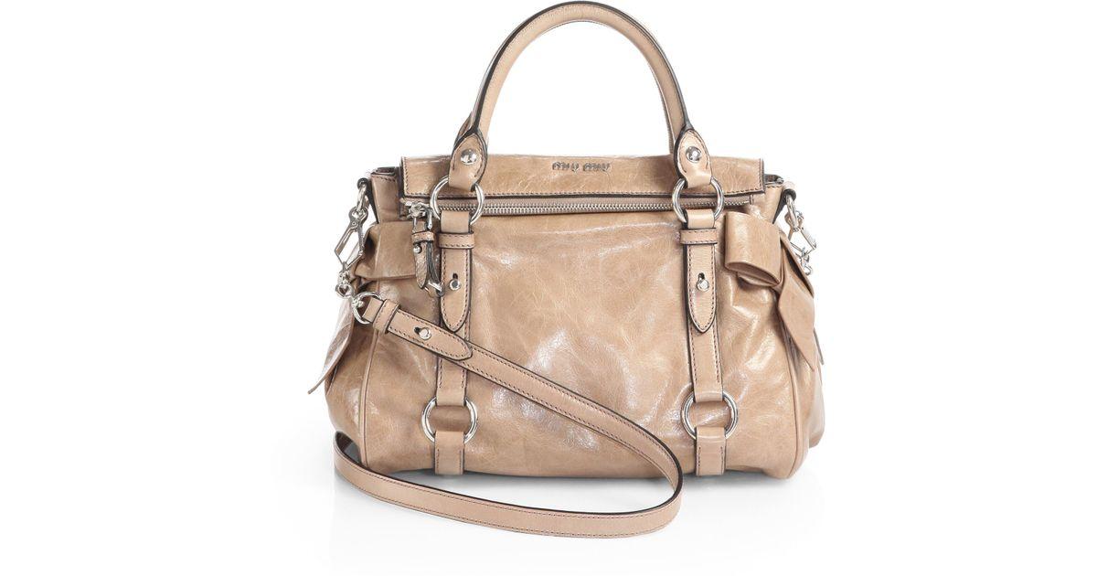 Miu Miu Vitello Lux Bow Bag Black