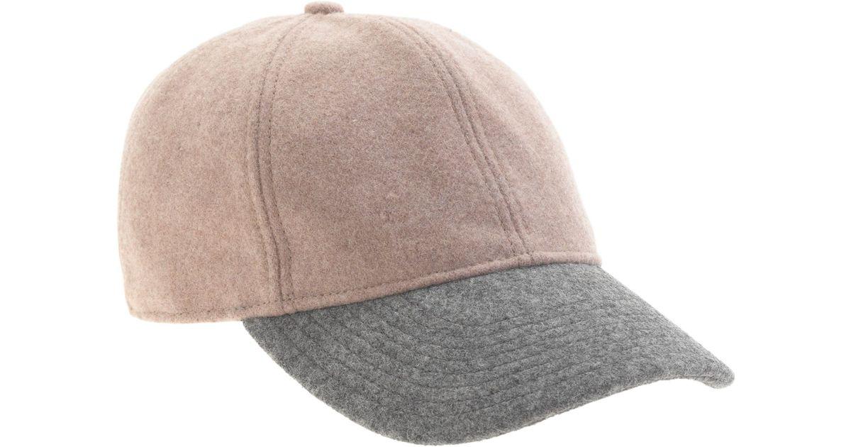 4643f24a8 J.Crew - Natural Colorblock Wool Baseball Cap - Lyst