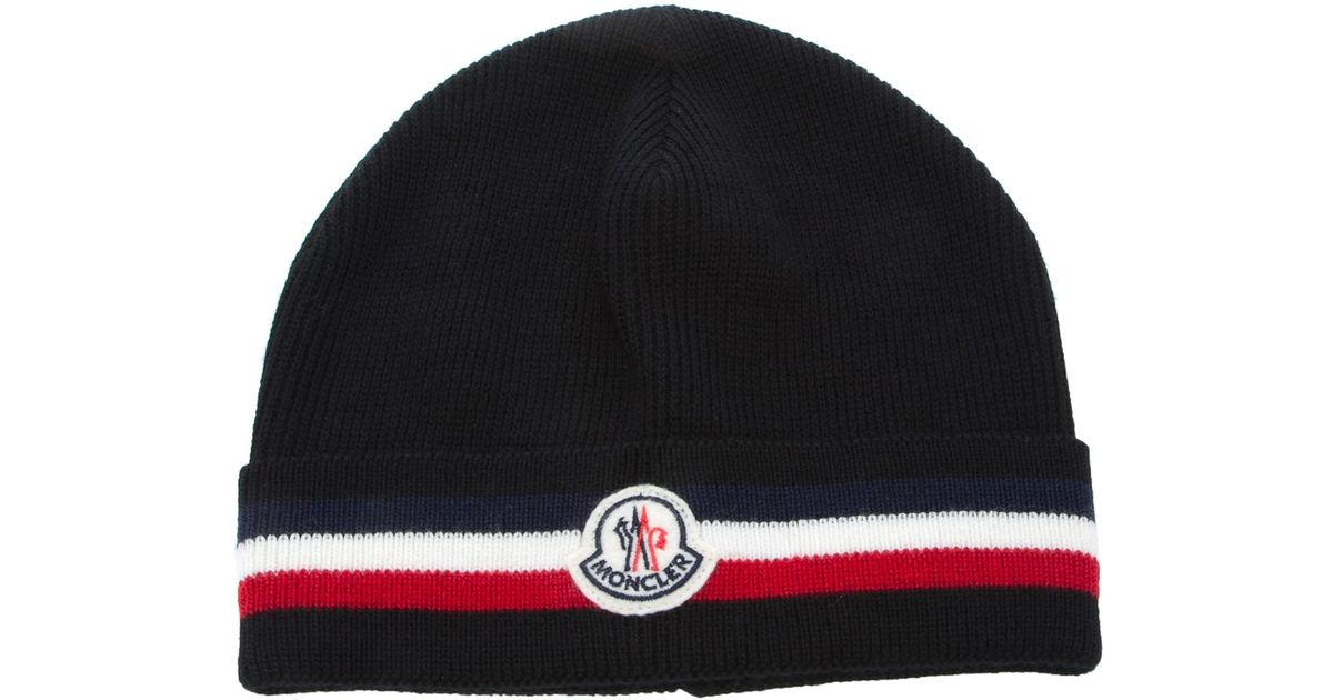 f26d20e92e9 ... norway lyst moncler beanie hat in black for men c2b5b 7e68b ...