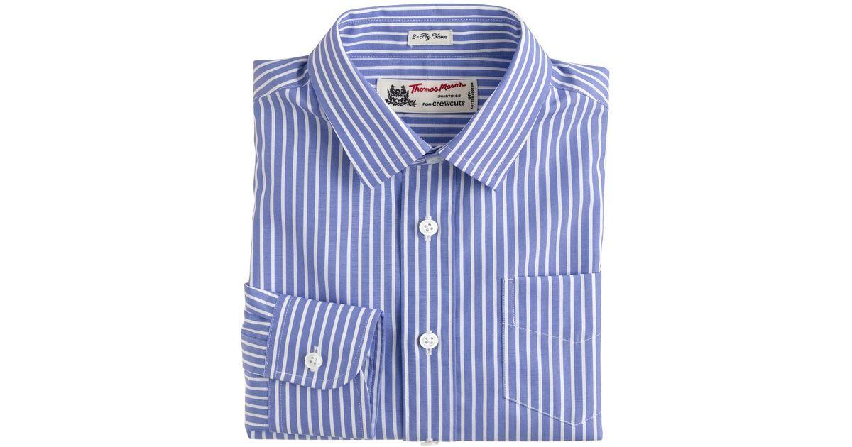 Boys thomas mason for crewcuts ludlow shirt in blue for Thomas mason dress shirts