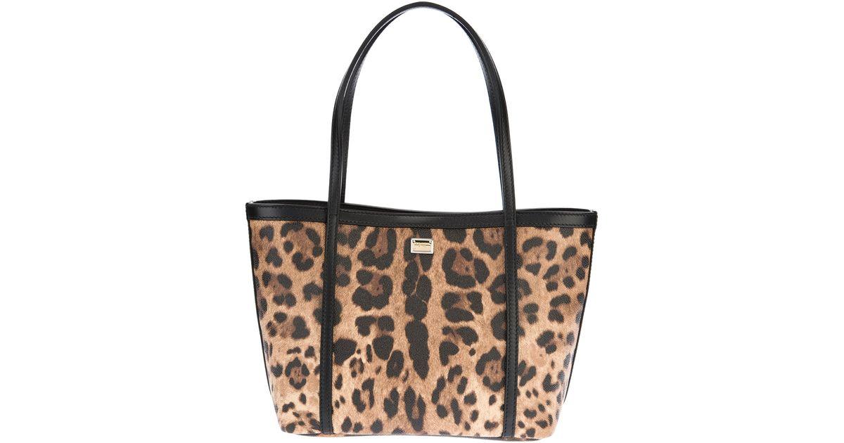 75c6bf0962c7 Dolce   Gabbana Leopard Print Tote - Lyst