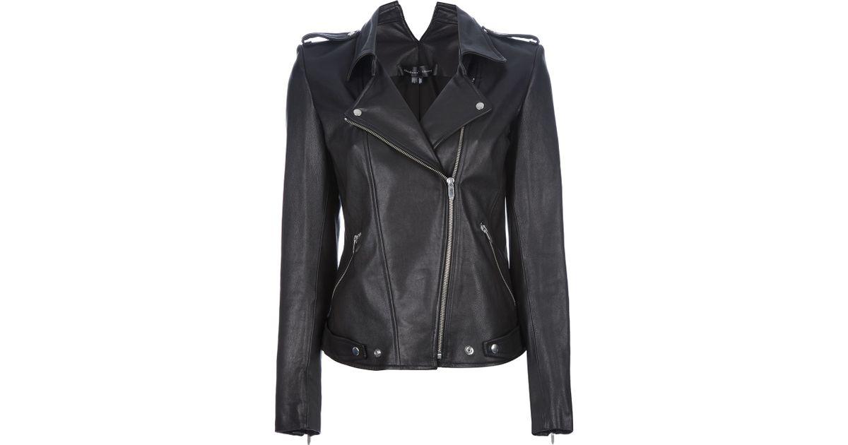 Theyskens Theory Nomi Biker Jacket In Black Lyst