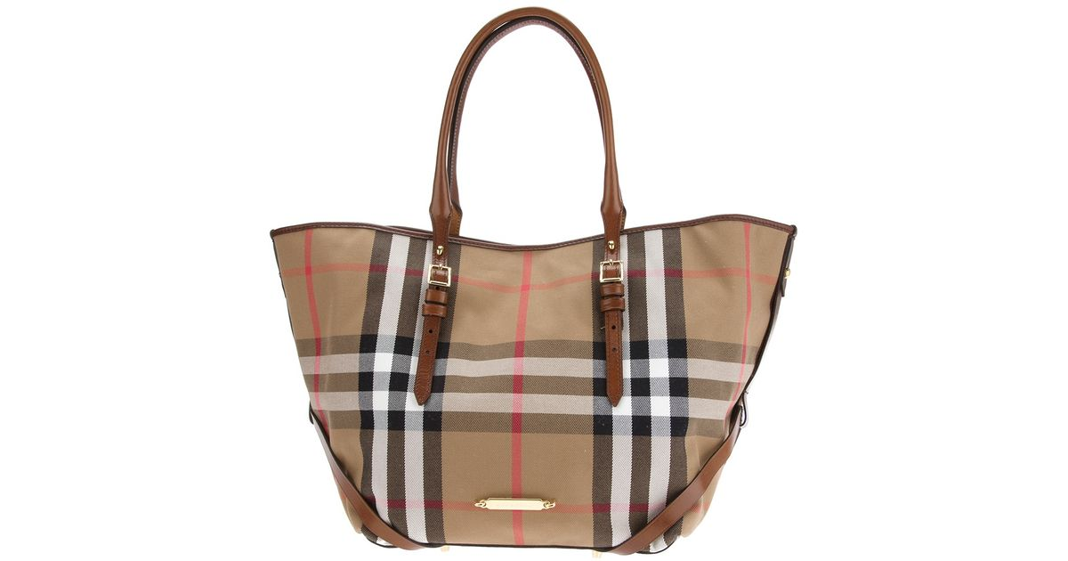 7ba56a3dfab6 Lyst - Burberry Medium Bridle House Tote Bag in Brown