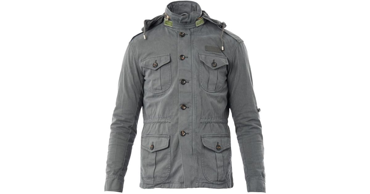 51a094ac50f Lyst - Michael Bastian Four Pocket Military Jacket in Gray for Men