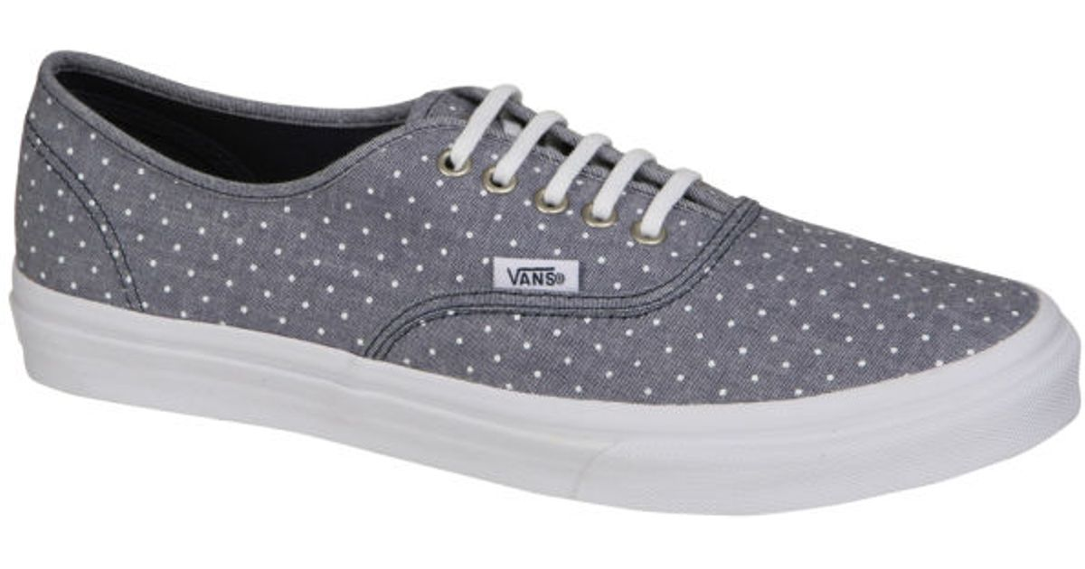 1481f44d97 Vans Authentic Slim Chambray Dots Trainers in Gray for Men - Lyst