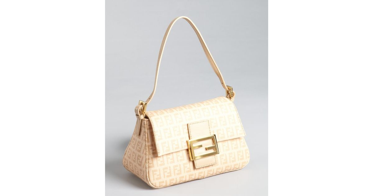 3f6c5e062e ... bag new handbags suede beige ref.53296 84ee4 2873e  low price lyst fendi  beige zucchino spalmati mama mini baguette in natural f1364 63b66