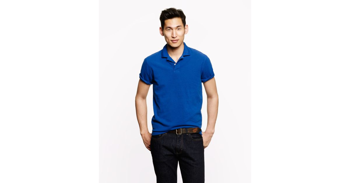 cf2098484 J.Crew Tall Classic Piqué Polo in Blue for Men - Lyst