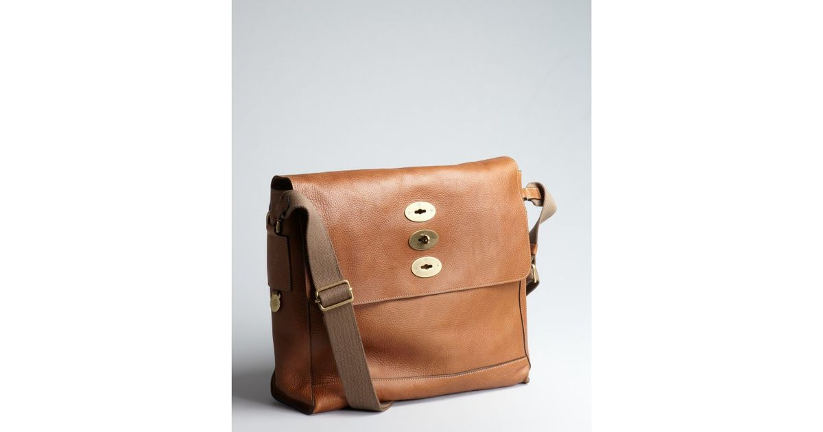 a2e8daa6f49 ... authentic lyst mulberry oak pebbled leather brynmore messenger bag in  brown for men 2a6a5 2d3a4 ...