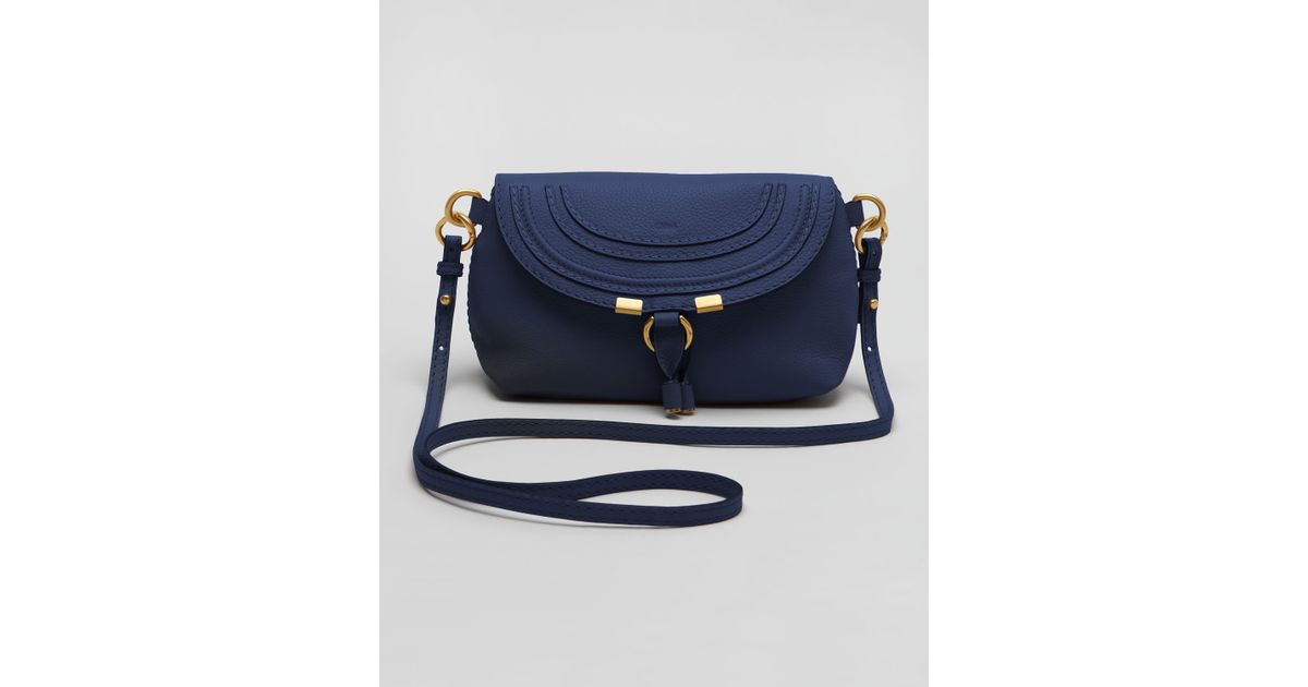 e2b1e61ef1 Lyst - Chloé Marcie Pouchette Crossbody Bag in Blue
