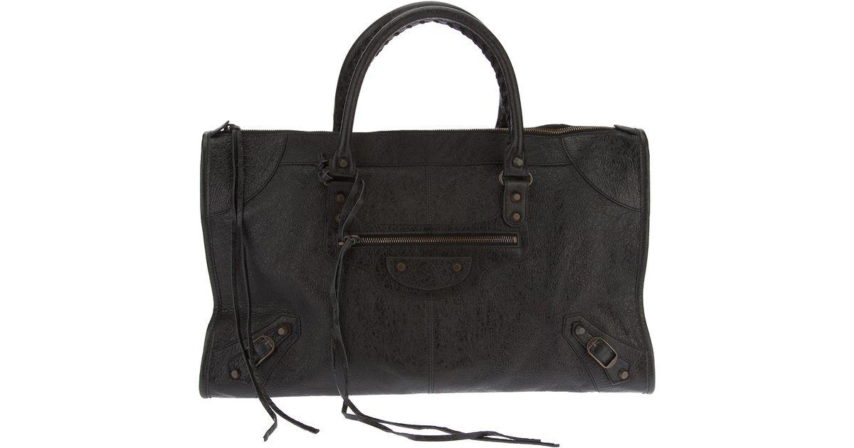 Balenciaga Classic Work Tote in Black | Lyst