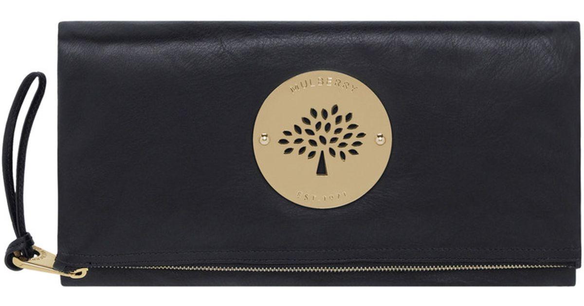 7ba100f6a606 Mulberry Daria Clutch in Black - Lyst