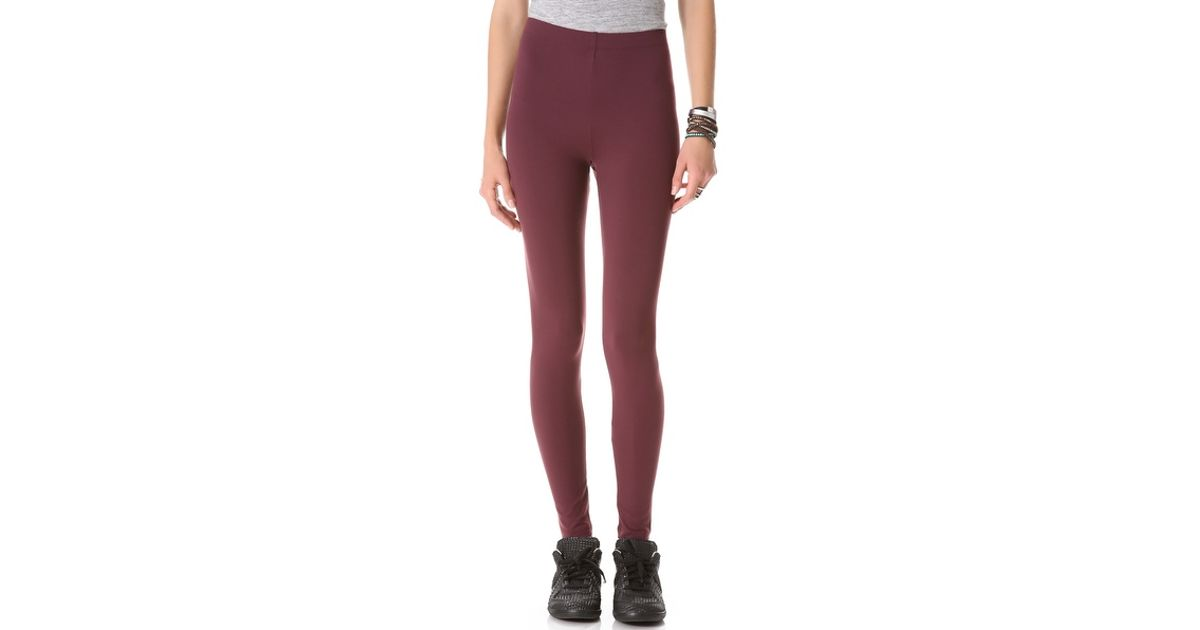 0fc6f49f32ad7 David Lerner Classic High Rise Leggings in Purple - Lyst