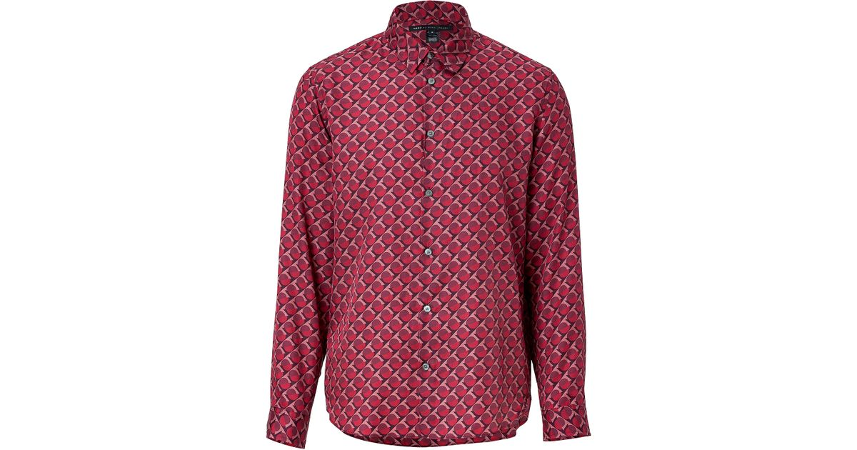 71bc75709db676 Lyst - Marc By Marc Jacobs Cotton-silk Shirt In Cabernet Red in Red for Men