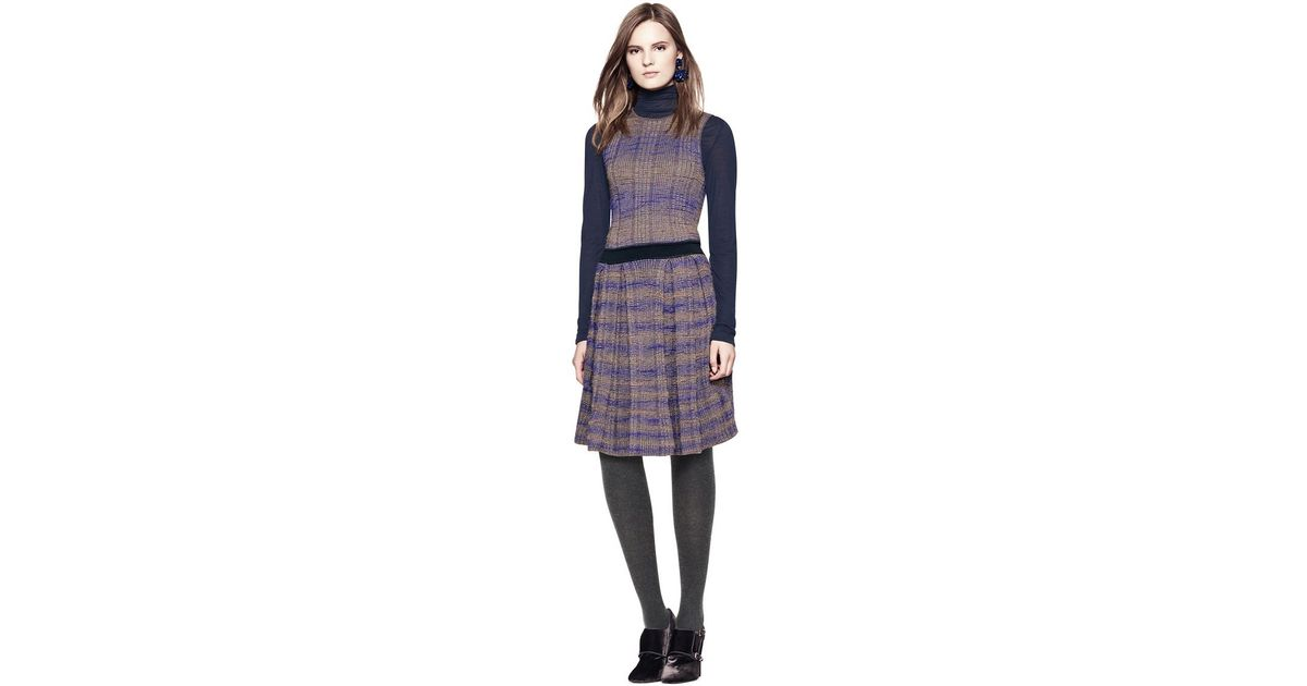 44d90489781 Tory Burch Nadia Dress in Purple - Lyst