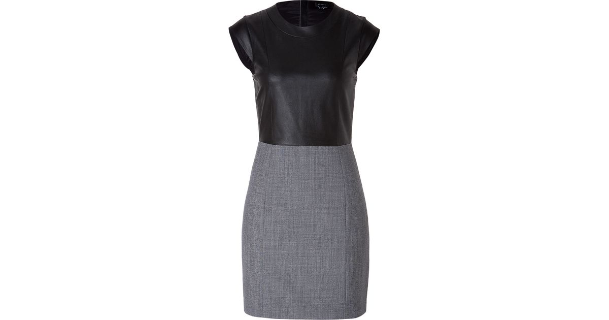 1eb800c487f Lyst - Theory Orinthia C Wallner Dress in Charcoal in Gray