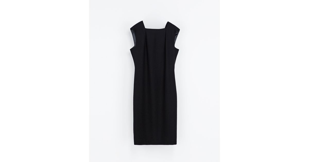 - Zara Sleeveless Dress In Black Lyst
