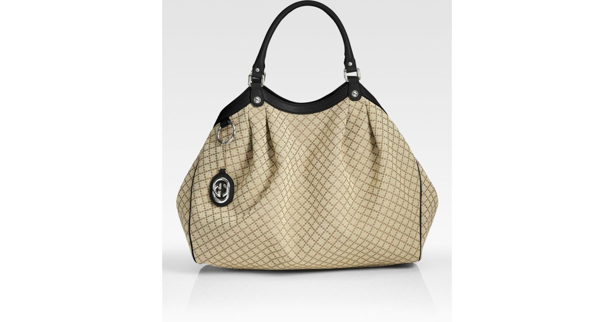 eb72c8d6883b Gucci Sukey Large Tote Bag in Natural - Lyst