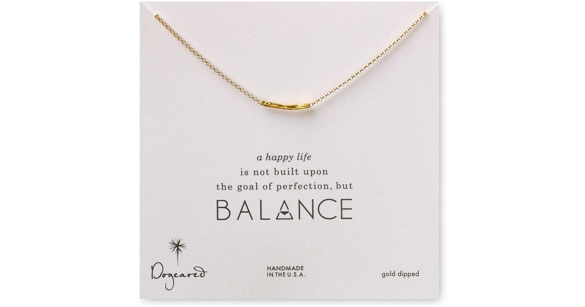 Dogeared balance hammered bar necklace 18 in metallic lyst mozeypictures Images