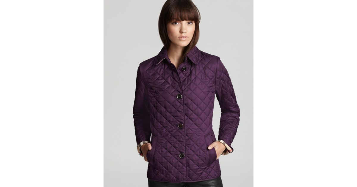 aafaea878ea Burberry Brit Copford Quilted Jacket In Purple Lyst