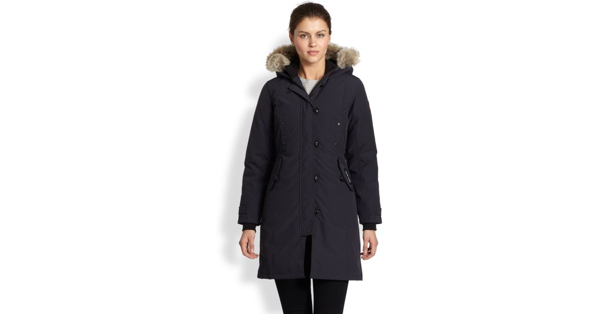 Canada Goose hats sale store - Canada goose Fur-trimmed Kensington Down Parka in Blue (NAVY) | Lyst