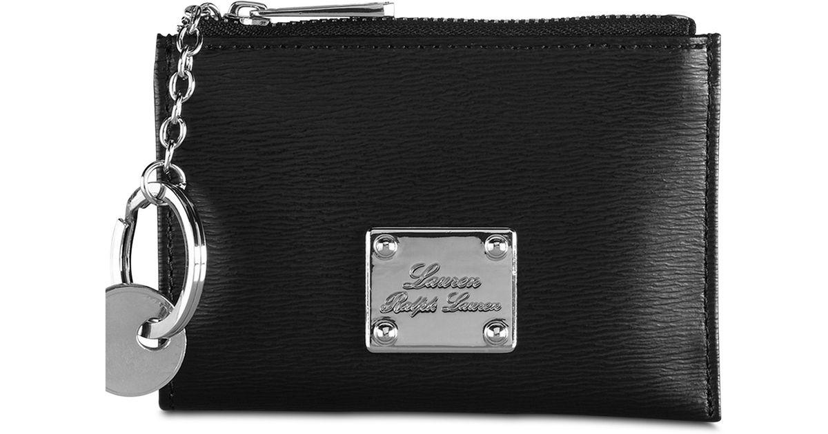 Lyst - Lauren by Ralph Lauren Newbury Key Coin Purse in Black adcab19f50