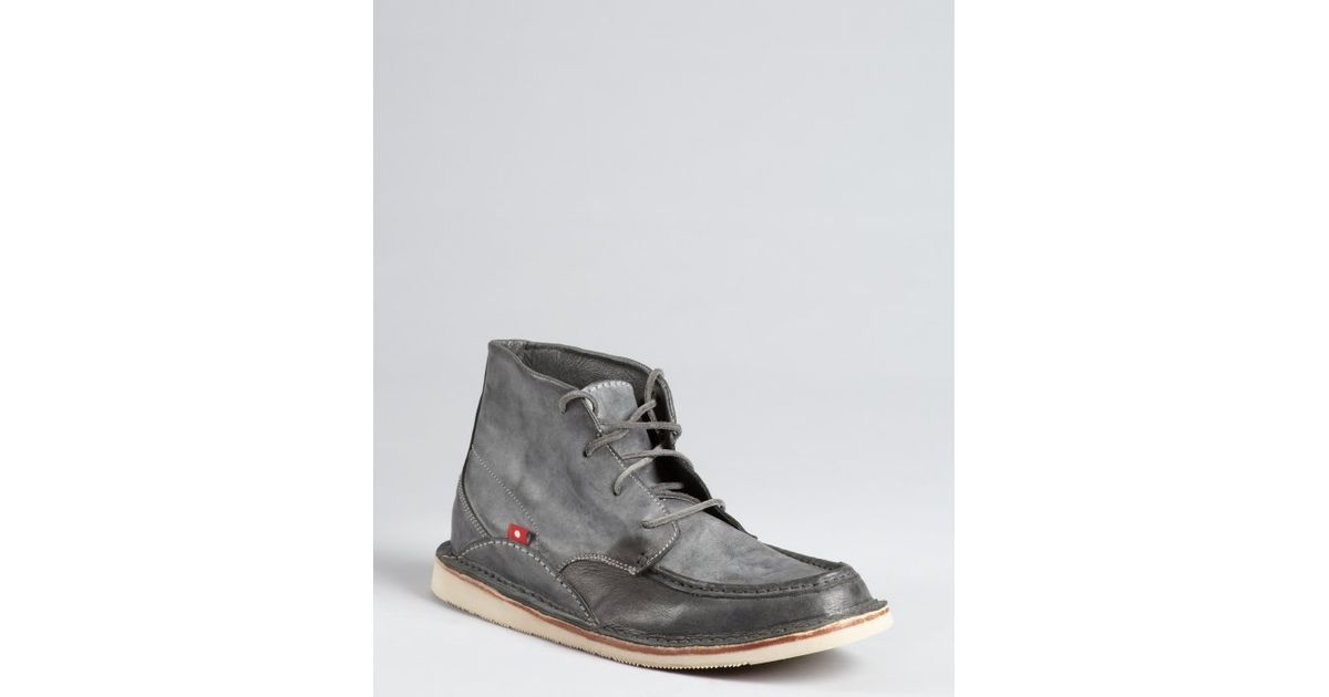 796c7a7365d Oliberte | Gray Dark Grey Washed Leather Chukka Boots for Men | Lyst
