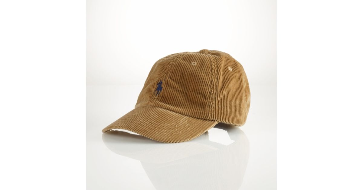 Lyst - Polo Ralph Lauren Corduroy Sports Cap in Brown for Men 29473e41c45