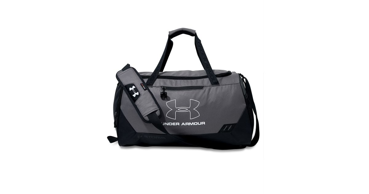 Lyst - Under Armour Hustle Small Duffle Bag in Gray for Men a5f55e84a72f2