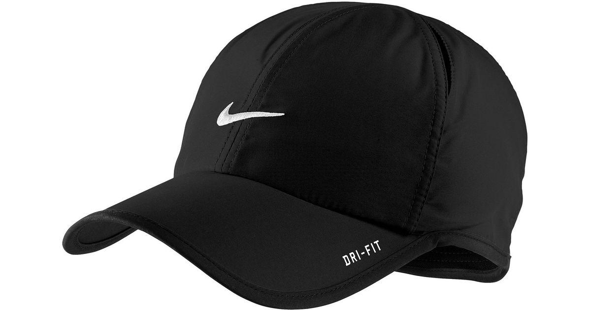Lyst - Nike Dri Fit Feather Light Cap in Black for Men 9a501f67604