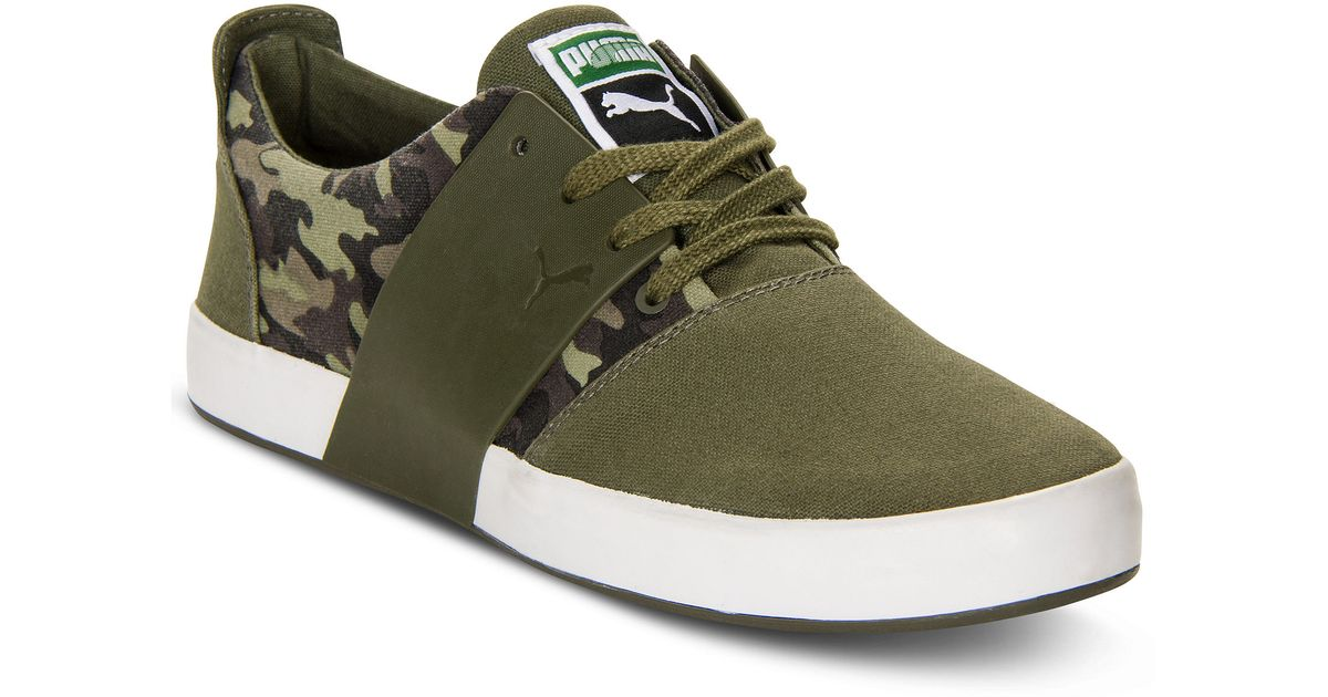 456102835bbe Lyst - PUMA El Ace 3 Camo Sneakers in Green for Men