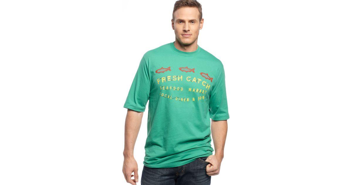 Lyst izod izod big and tall shirt fresh catch tshirt in for Izod big and tall shirts