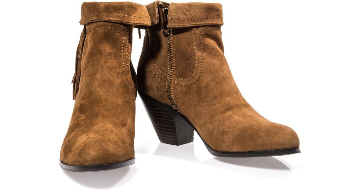 191b0a2fc Lyst - Sam Edelman Louie Tassel Edge Boots in Brown