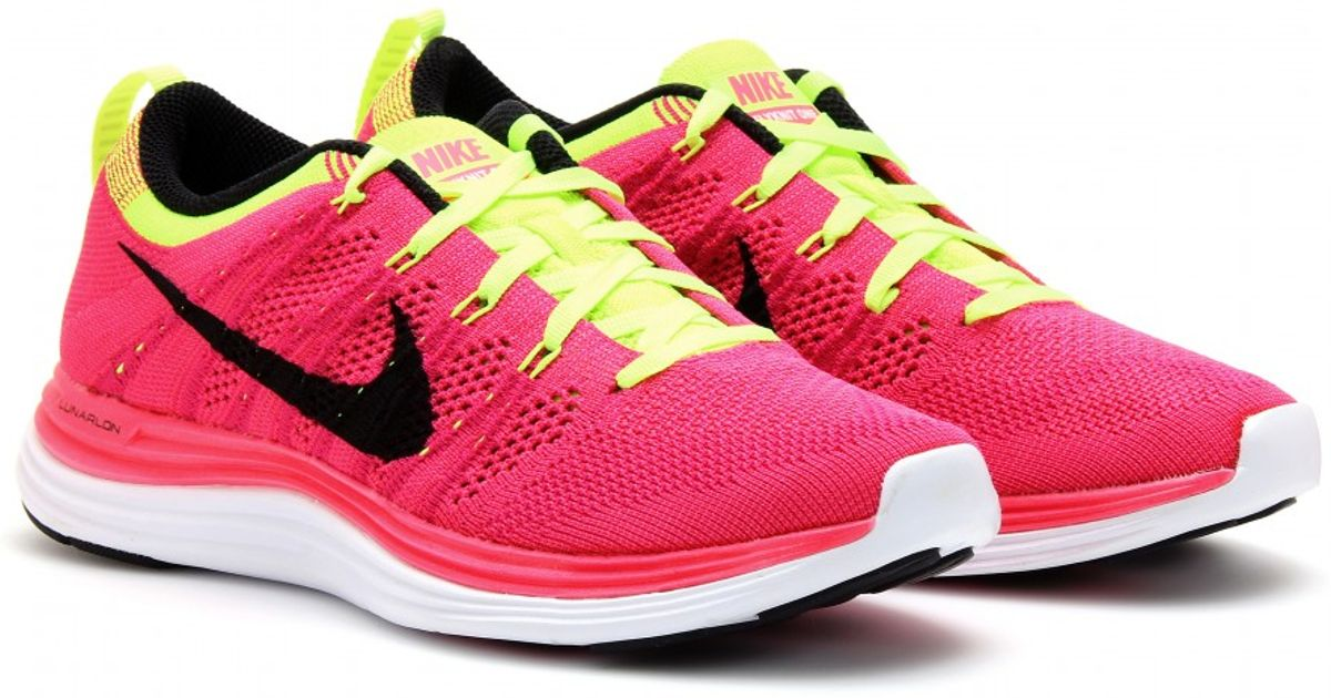 outlet store e4dfb 8686b ... get lyst nike flyknit lunar 1 sneakers in pink ea0a9 70515