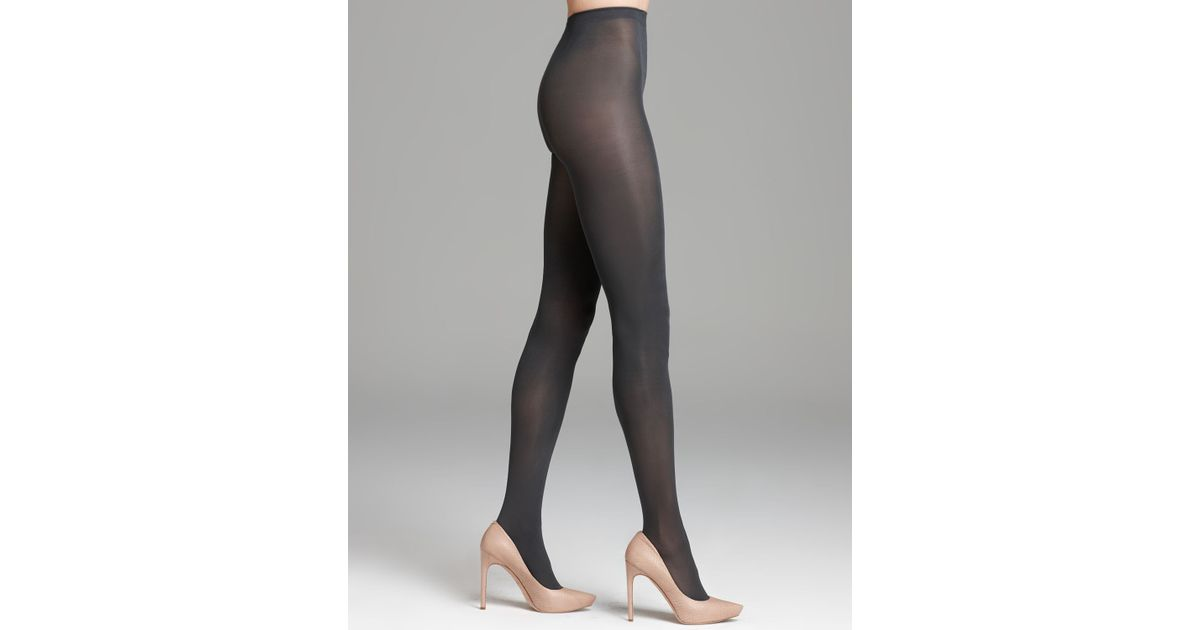 d78bb1da5c9f8 Hue Opaque Tights Sheer To Waist in Gray - Lyst