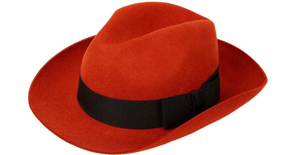 d47d72981d5 Christys  Orange Grosvenor Fedora Hat in Orange - Lyst