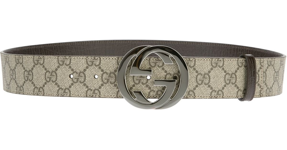b939a2948 Gucci Monogram Belt in Natural for Men - Lyst