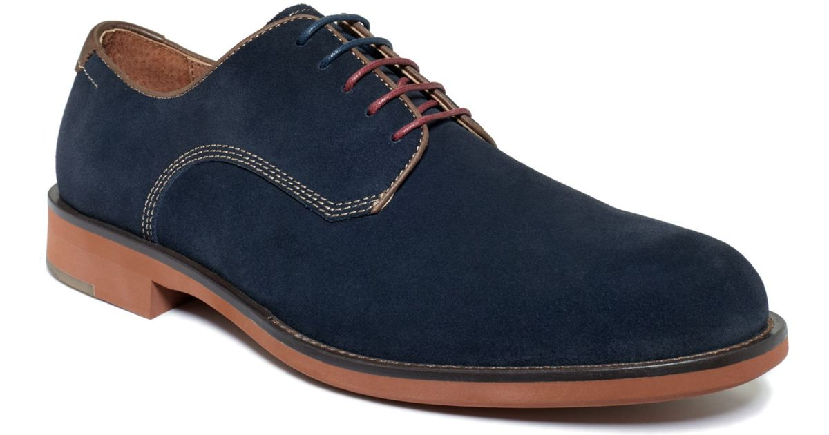 Johnston And Murphy Blue Suede Shoes