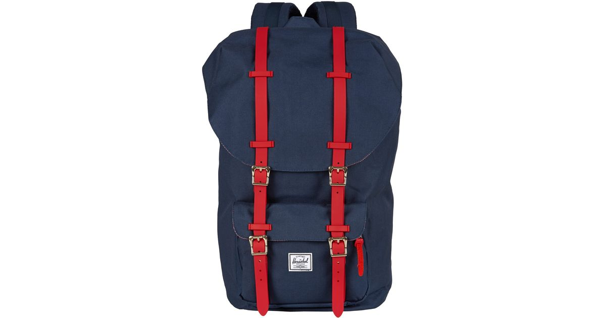 Herschel Supply Co. Navy Little America Rubber Backpack in Blue for Men -  Lyst 51fa018d73fb4