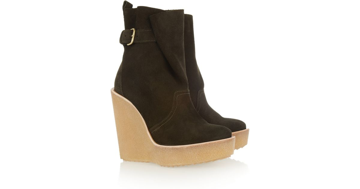 free shipping pictures Pierre Hardy Suede Wedged Ankle Boots buy cheap visit new clearance 100% authentic q7VSXsSx6X