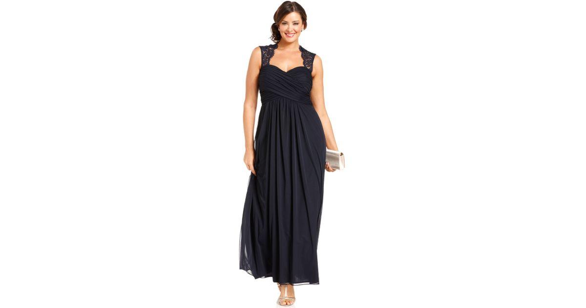 Lyst Xscape Xscape Plus Size Dress Sleeveless Laceback Empirewaist