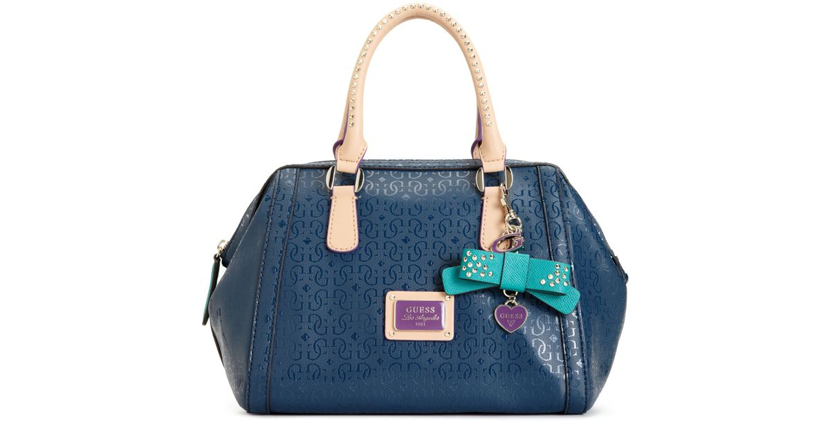 afa46c0094aa Lyst - Guess Guess Handbag Specks Frame Satchel in Blue