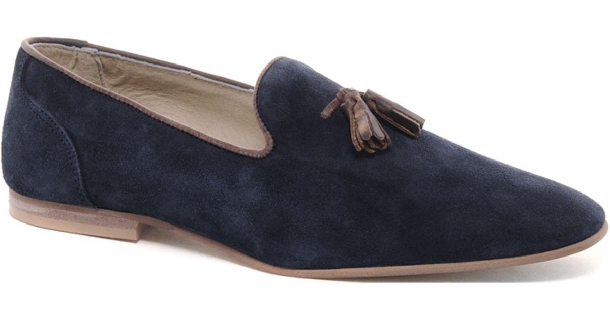 b2129227b90 Lyst - Alexander McQueen X Puma Asos Tassel Loafers in Suede in Blue for Men