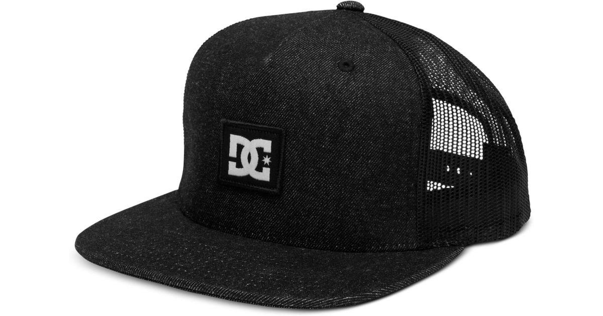 Lyst - DC Shoes Pleaser Snackpack Mesh Trucker Hat in Blue for Men f8519b5c9ead