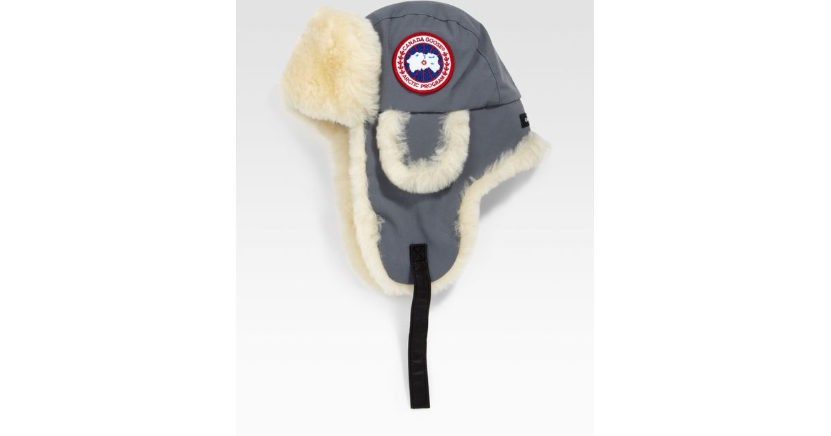 Canada Goose montebello parka replica cheap - Canada goose Arctic Tech Shearling Pilot Hat in Gray for Men ...
