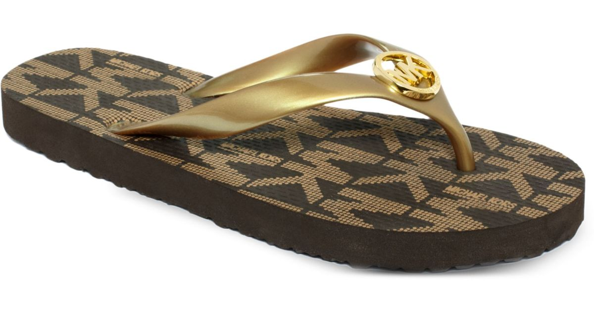 Michael Kors Jet Set Flip Flops In Metallic - Lyst-1654
