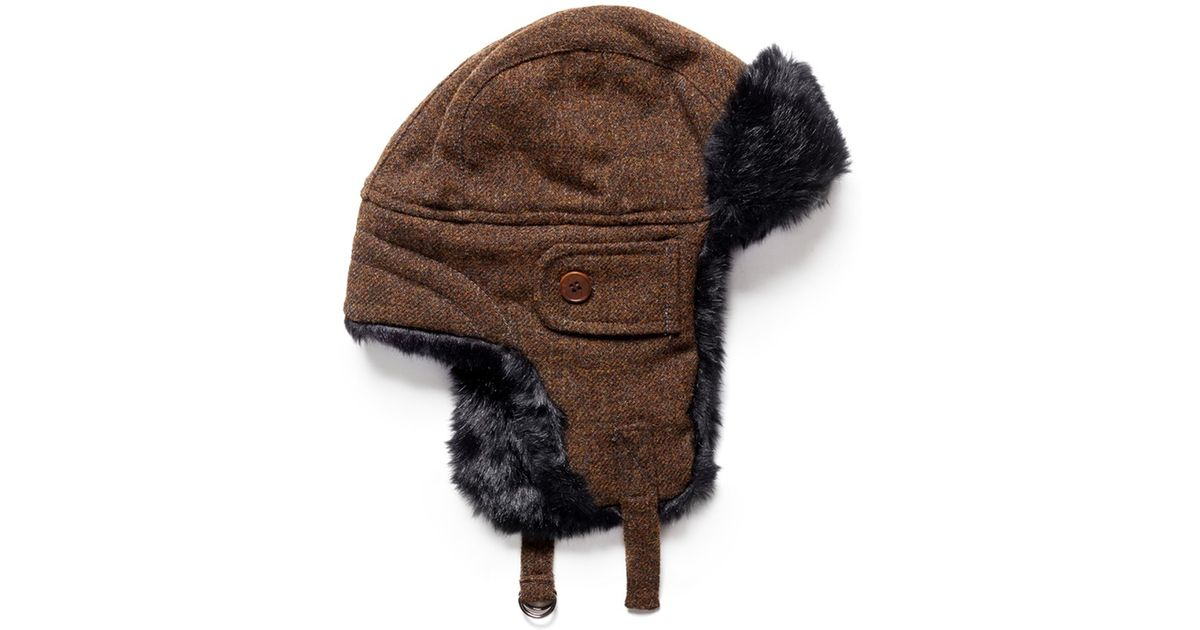 7304a493de3 Lyst - Paul Smith Wool Trapper Hat in Brown for Men