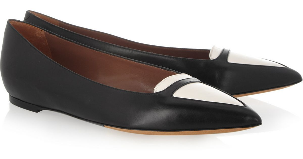 Tabitha Simmons Leather Bicolor Flats cost cheap price 1my7r