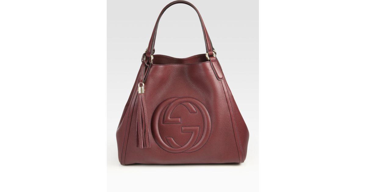 Lyst - Gucci Soho Medium Shoulder Bag in Brown 6e4ae06b81e