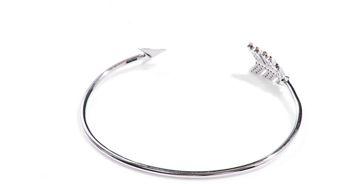 design wf bracelet silver choker np necklace arrow metallic
